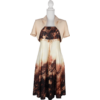 Kép 1/2 - Pántos, A-vonalú ruhából és hozzá illő boleróból álló púder-mályva-tojáshéj szín, szaténos anyagú ruha