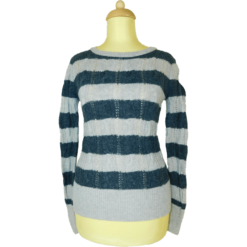 APHORISM csíkos, kötött pulóver (S/36)